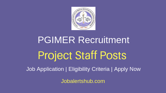 PGIMER Project Staff Job Notification