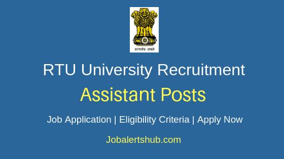 RTU Assistant Job Notification