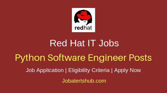 Red Hat Python Software Engineer Job Notification