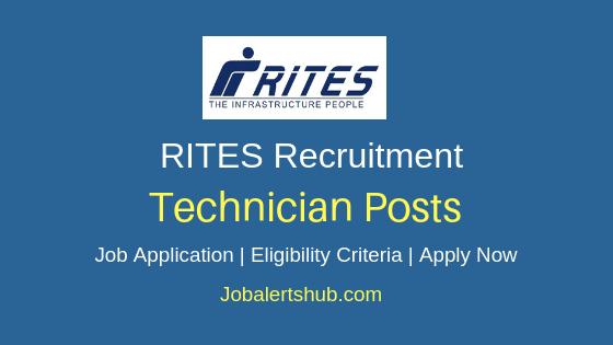 RITES Limited Technician Job Notification