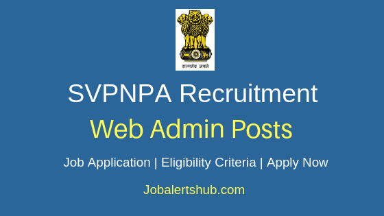 SVPNPA Web Administrator Job Notification