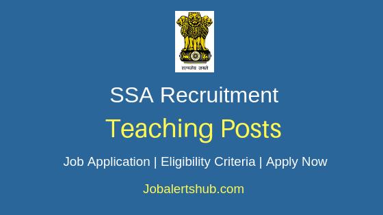 SSA Teaching Job Notification
