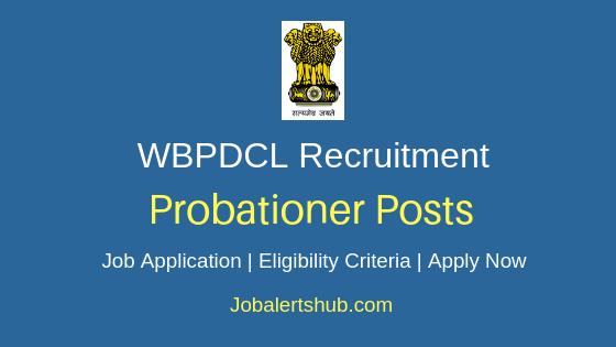 WBPDCL Probationer Job Notification