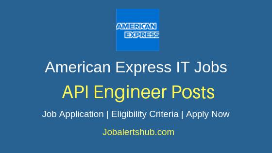 American Express India API Engineer Job Notification