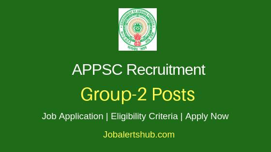 APPSC Executive & Non-Executive Group-2 2019 Job Notification