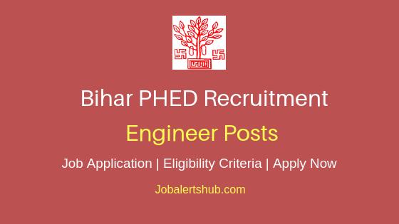 BIhar PHED Engineer Job Notification