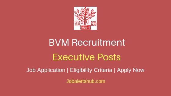 BVM Executive Job Notification