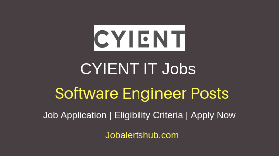 Cyient Ltd Software Engineer Job Notification