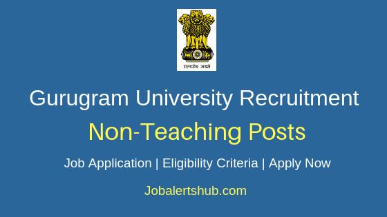 Gurugram University Non-Teaching Job Notification