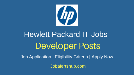 Hewlett Packard India Developer Job Notification
