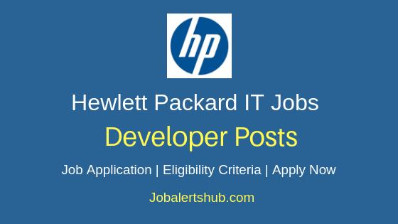 Hewlett Packard India Developer Job Notification