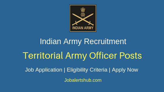 Indian Army Territorial Army Officer Job Notification