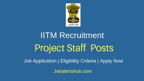 IITM Project Staff Job Notification
