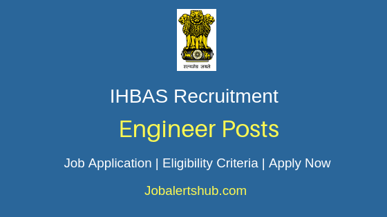 IHBAS Engineer Job Notification
