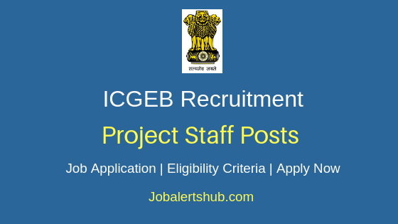 ICGEB Project Staff Job Notification