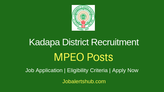 Kadapa District MPEO Job Notification