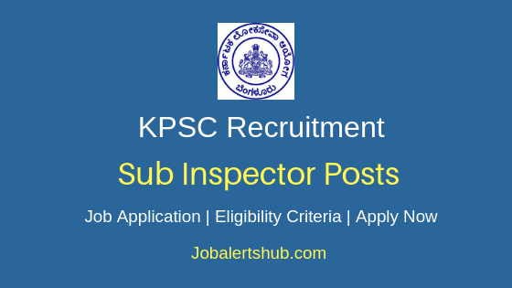 KPSC Sub Inspector Job Notification