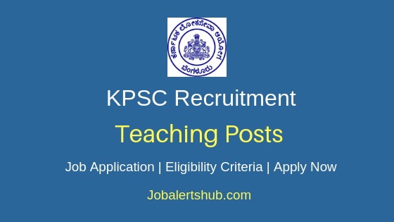 KPSC Teaching Job Notification