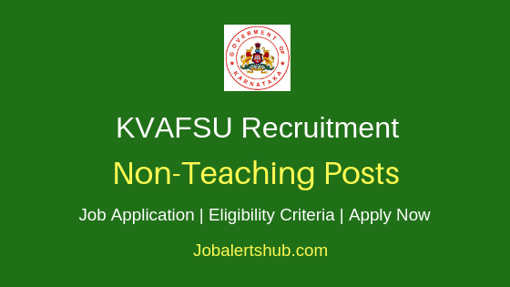 KVAFSU Non-Teaching Job Notification