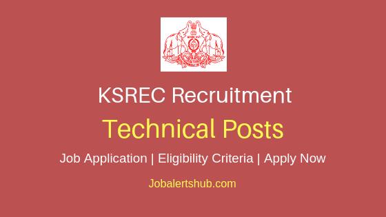 KSREC Techncial Job Notification