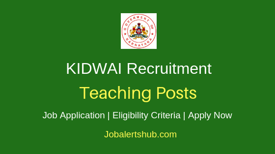 KIDWAI Cancer Institute Teaching Job Notification