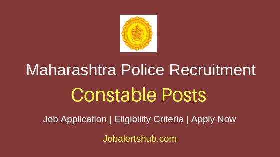 Maharashtra Police Constable Job Notification