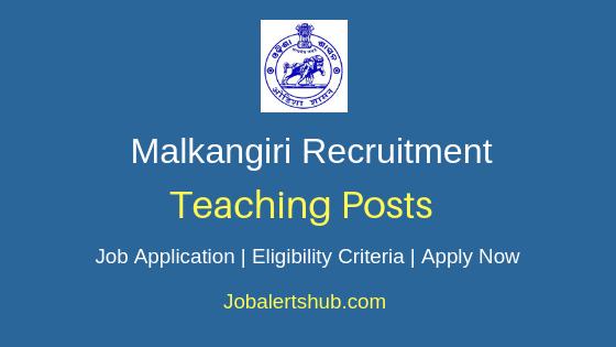 Malkangiri District Teaching Job Notification