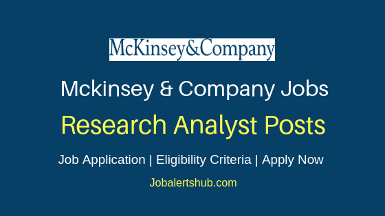 Mckinsey & Company India Research Analyst Job Notification