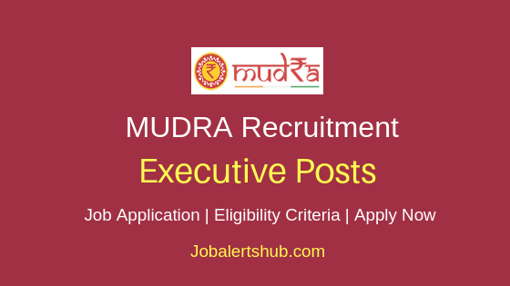 MUDRA Executive Job Notification