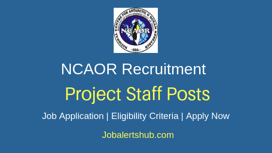 NCAOR Project Staff Job Notification