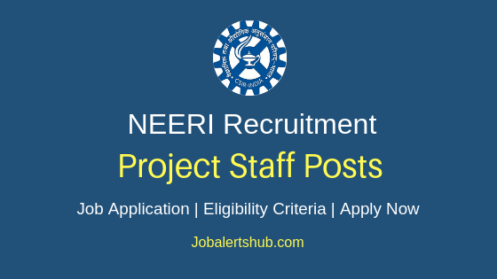 NEERI Project Staff Job Notification