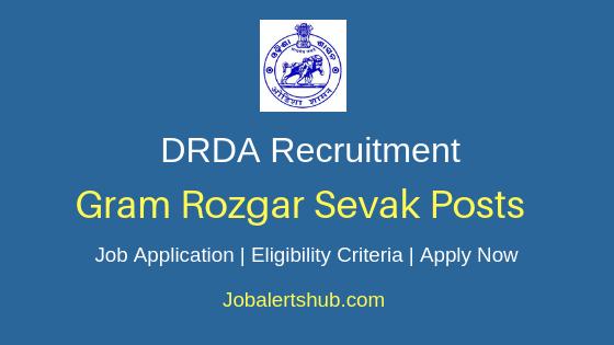 Odisha District Rural Development Agency Gram Rozgar Sevak Job Notification