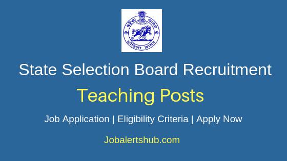 Odisha SSB Teaching Job Notification
