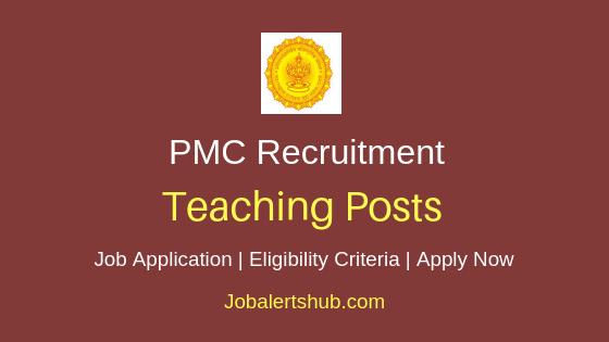 PMC Teaching Job Notification
