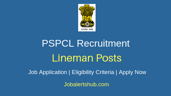 PSPCL Lineman Job Notification