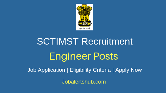 SCTIMST Engineer Job Notification