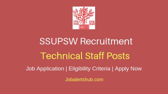 SSUPSW Technical Staff Job Notification