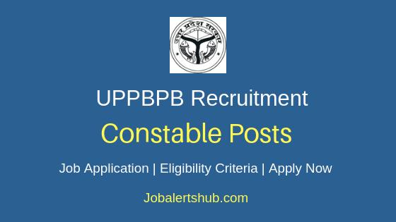 UPPBPB Constable Job Notification