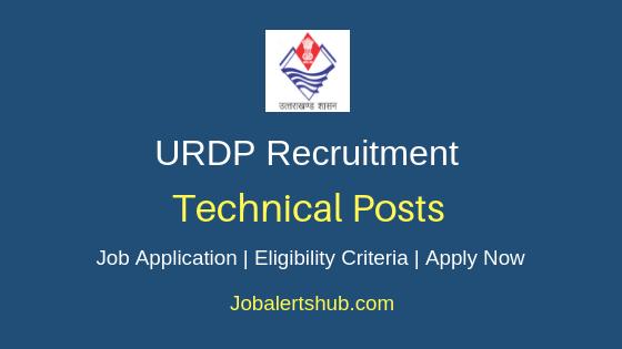 URDP Technical Job Notification