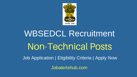 WBSEDCL Non-Technical Job Notification