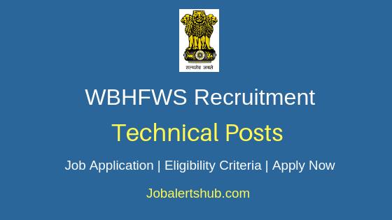 WBHFWS Technical Job Notification