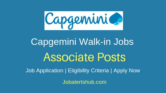 Capgemini Ltd Associate Walkin  Job Notification