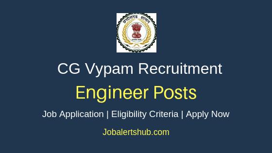 CG Vyapam Engineer Job Notification