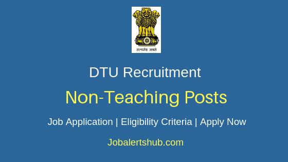 DTU Non-Teaching Job Notification