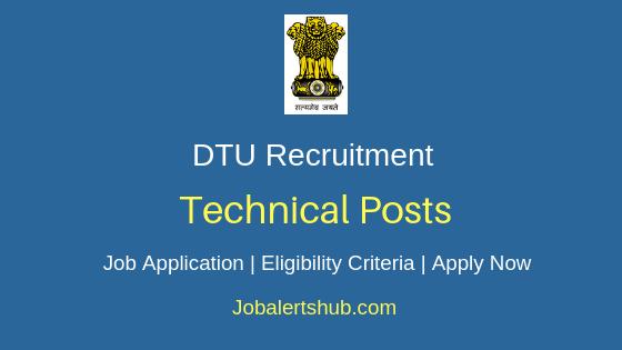 DTU Technical Job Notification