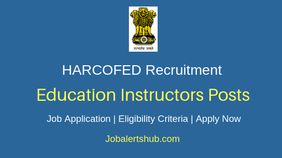 HARCOFED Education Instructors Job Notification