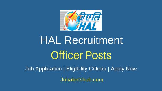 HAL Officer Job Notification