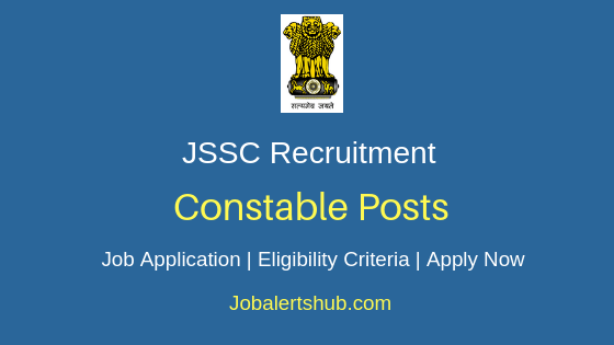 JSSC Constable Job Notification