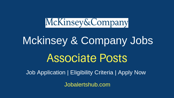 McKinsey & Company Associate Job Notification
