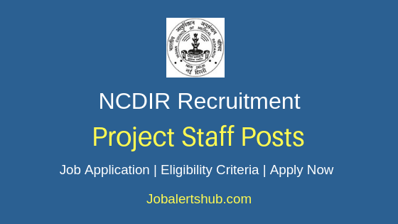 NCDIR Project Staff Job Notification